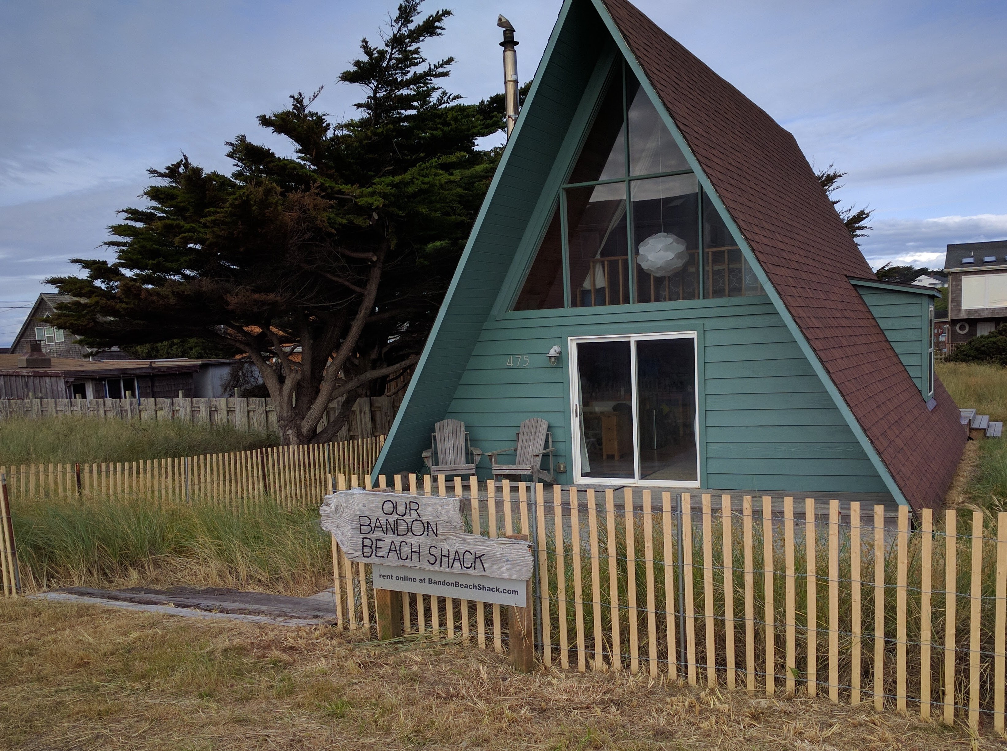 a-frame vacation rental in Bandon, Oregon